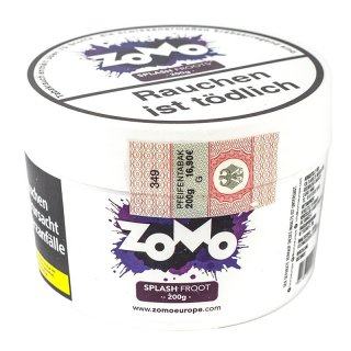 ZoMo Tobacco 200g SPLASH FROOT 1