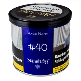 NameLess 200g 40 Black Nana tabak