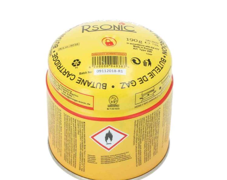 Rsonic Gaskartuschen Butangas 190g 1